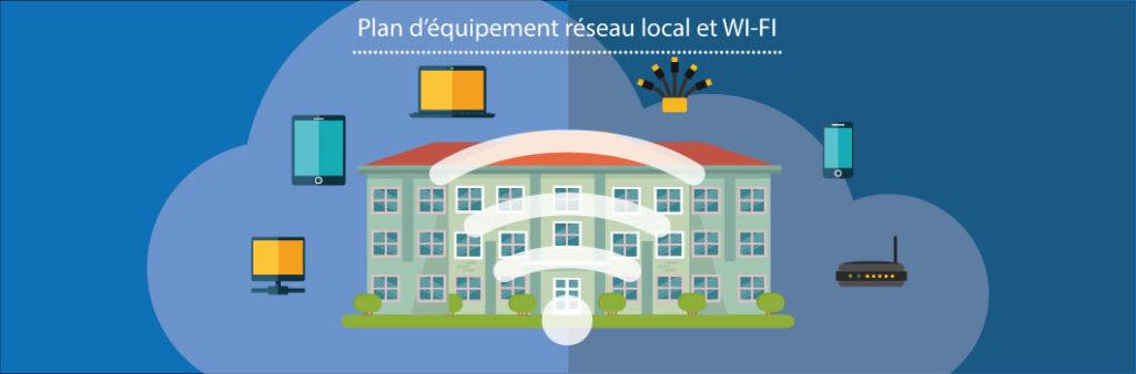 Plan d'équipement réseau local et WI-FI